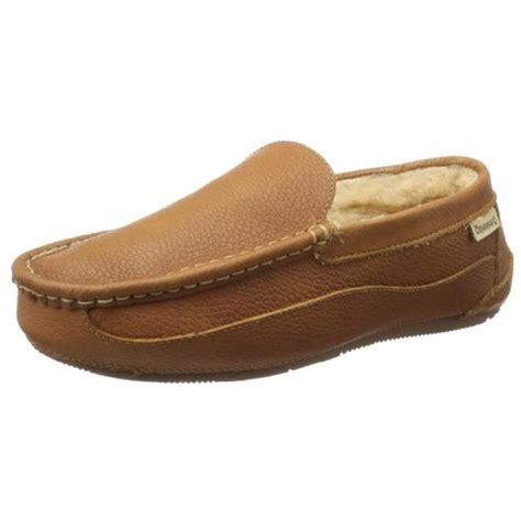 loafer slipper bearpaw 2485 mens baldwin leather sheepskin lining loafer