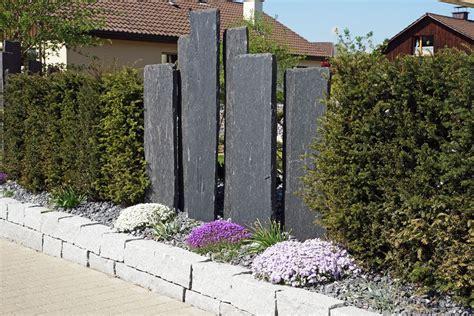 Billige Stehlen by Sichtschutz Garten Holz Stein Kunstrasen Garten