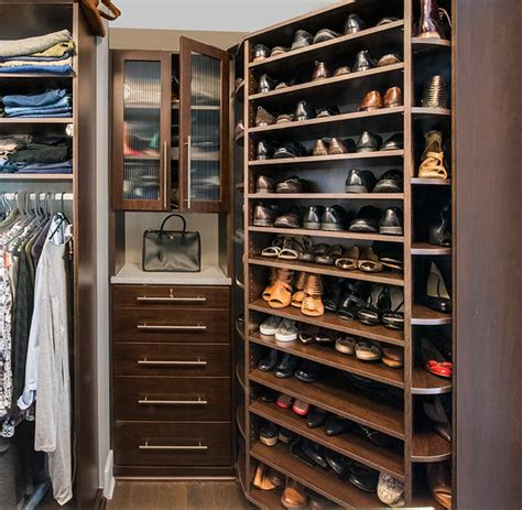 luxury shoe storage small walk in closet design for a condo closet