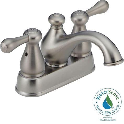 delta leland 4 in centerset 2 handle bathroom faucet in