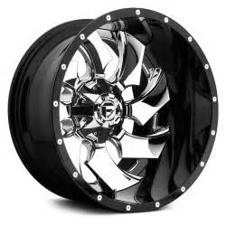 Gloss Black And Chrome Truck Wheels Fuel 174 Cleaver Wheels Gloss Black With Chrome Rims