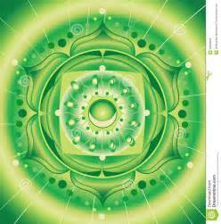 green pattern mandala of anahata chakra stock images