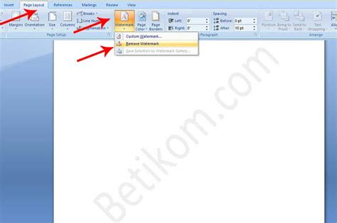 cara membuat watermark di word 2013 cara menghilangkan watermark di word logo gambar serta