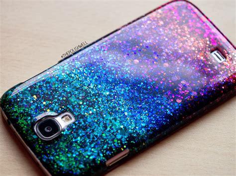 the polish well diy glitter phone cover