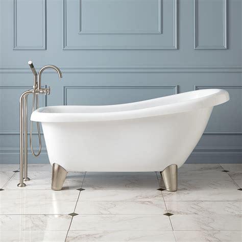 Modern Bathroom With Clawfoot Tub Edwin Acrylic Slipper Tub Modern Bathroom
