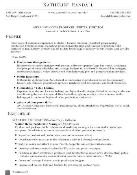production resume best template collection