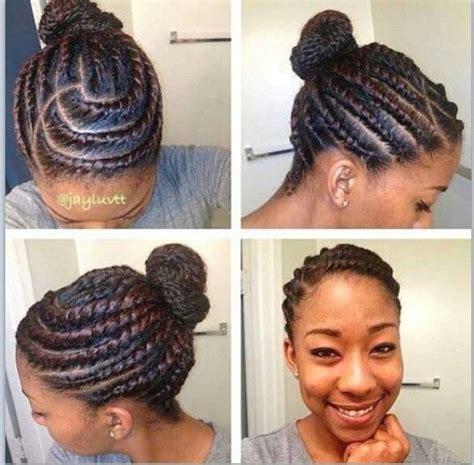 flat twist bun hairstyles flat twist bun it s only natural pinterest