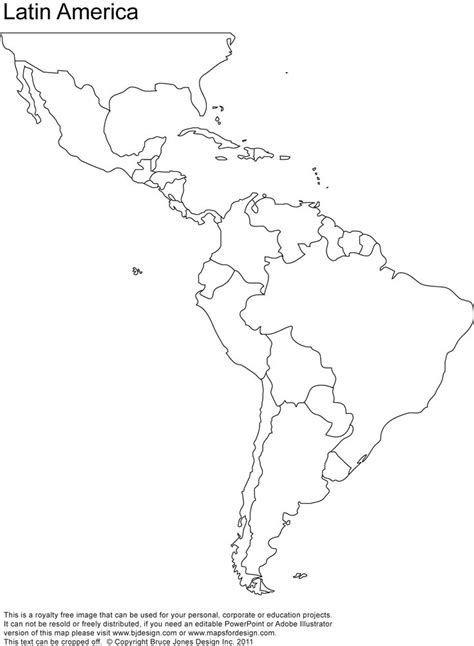 america map to color map of and south america for coloring home