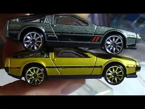 Hotwheels Delorean Dmc 12 1981 delorean dmc 12 wheels comparison and opening