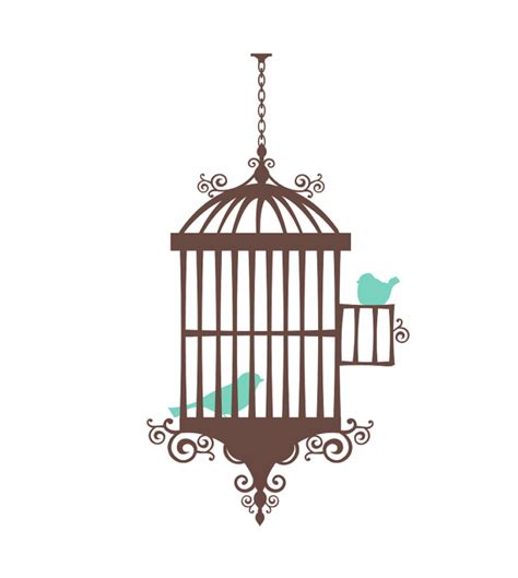 Items similar to Bird Cage Wall Decal Shabby Chic Wall Decal Whimsical Birds Girl Baby Nursery