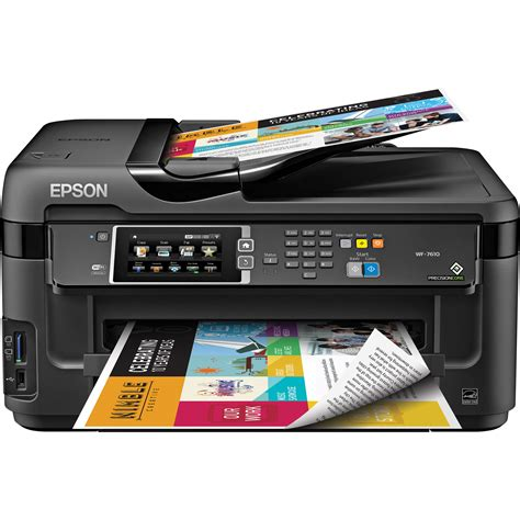 Printer Epson Scan Fotocopy epson workforce wf 7610 wireless color all in one c11cc98201 b h