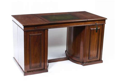 antique pedestal desk wooton style circa