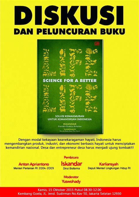 bioekonomi adalah diskusi buku life science for a better life yuswohady com