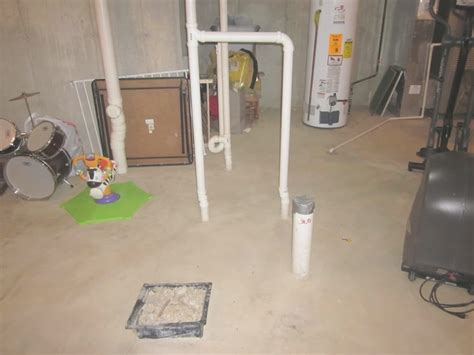 basement bathroom plumbing rough in new basement and