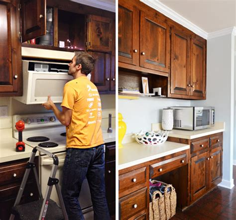 How Do You Clean Kitchen Cabinets by Replacing A Hanging Microwave With A Range Hood Young