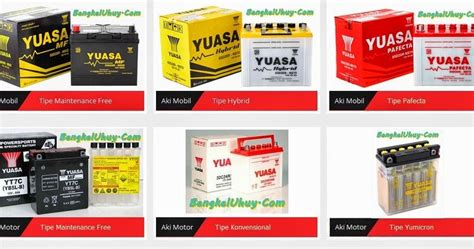 Accu Yuasa Mobil Avanza daftar harga aki accu motor dan mobil yuasa terbaru