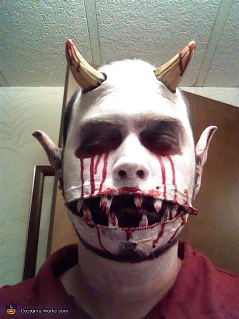 zipper mouth demon costume  sew diy costumes