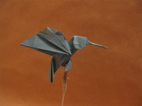 Hummingbird Origami - origami hummingbird by orimin on deviantart