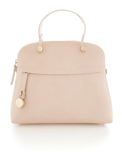 Furla Piper Dome Bag By Bagladies lyst furla piper light pink dome bag in