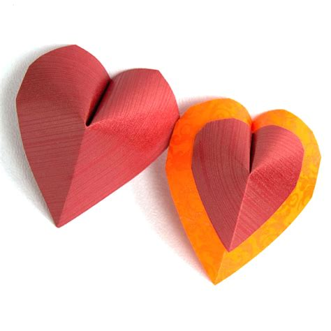 Simple Origami Hearts - pin true on
