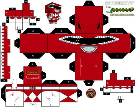 How To Make A Paper Power Ranger - power ranger cubee cubee crafts ranger