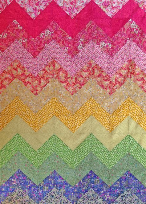 Pattern Instant pattern chevron rainbow quilt pattern instant caroline liberty fabric