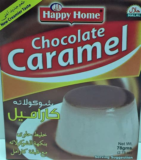 happy home products happy home chocolate caramel pudding mix halal desi