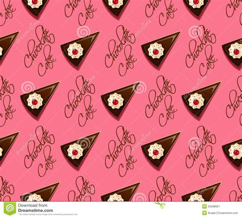seamless pattern cake chocolate cake seamless pattern stock vector image 55598667