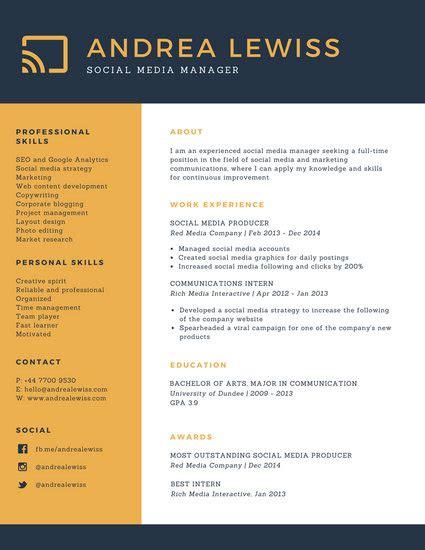 Customize 183 Corporate Resume Templates Online Canva Corporate Resume Template Free