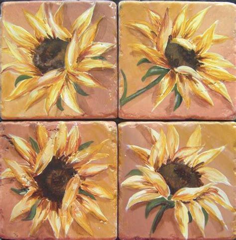 Kitchen Backsplash Mural by Tre Sorelle Tuscan Sunflower Tile Mural