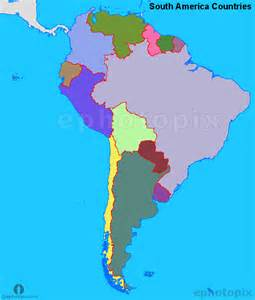 map of countries of south america south america countries map countries map of south america