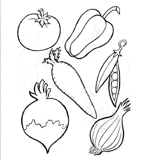 coloring pages of fruits and vegetables coloring home
