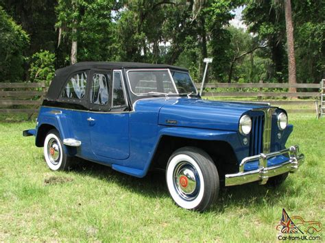 1948 willys jeepster 1948 willys overland jeepster concourse restoration