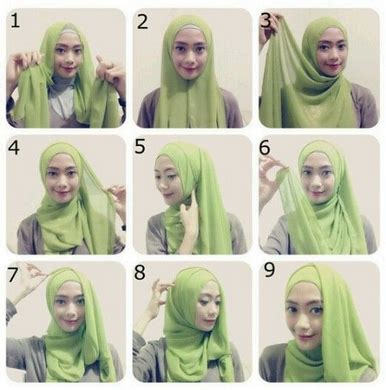 tutorial hijab paris modern terbaru cara pakai hijab paris modern terbaru