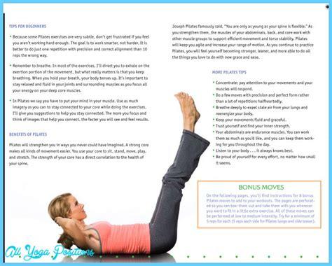 pilates exercises for beginners diagrams beginner pilates exercises all