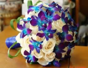 Real Touch Flowers Wholesale - real touch blue and purple dendrobium orchids artificial