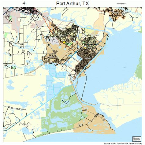 port texas map port arthur texas map 4858820