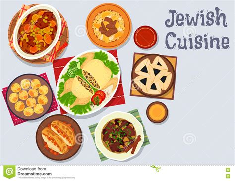 design a kosher menu jewish cuisine kosher dinner icon for menu design stock