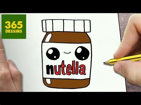 comment dessiner nutella kawaii 233 comment dessiner