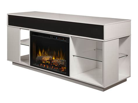 Audio Flex Lex Electric Fireplace Tv Stand In White Fireplace Tv Stand White