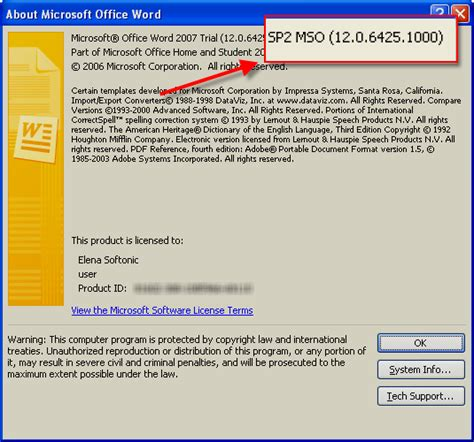 What Is The Version Of Office Microsoft Office 2007 Service Pack 2
