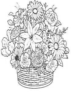 vasi di fiori da colorare cestino di fiori da stare e colorare
