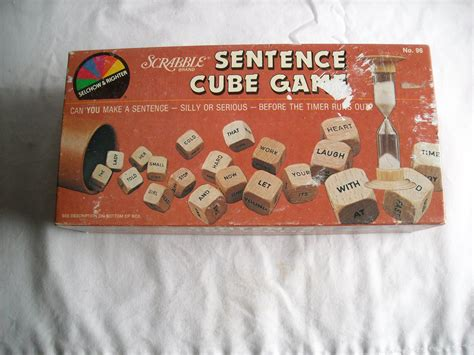 scrabble sentence cube scrabble sentence cube 1983 selchow righter