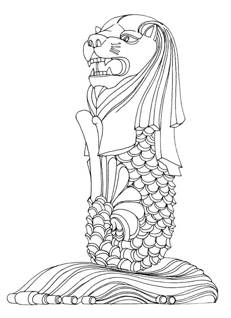 victory garden coloring pages the gallery for gt merlion cartoon