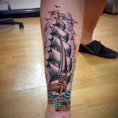 25 best ideas about traditional ship tattoo on pinterest