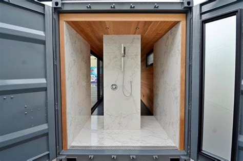 shipping container bathroom new old stock off grid shipping container dwellings modern bathroom toronto