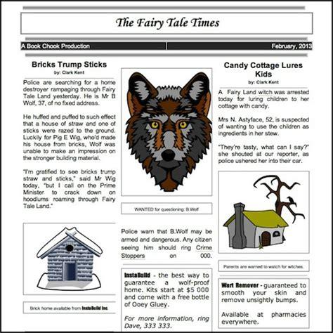 editable newspaper template for kids