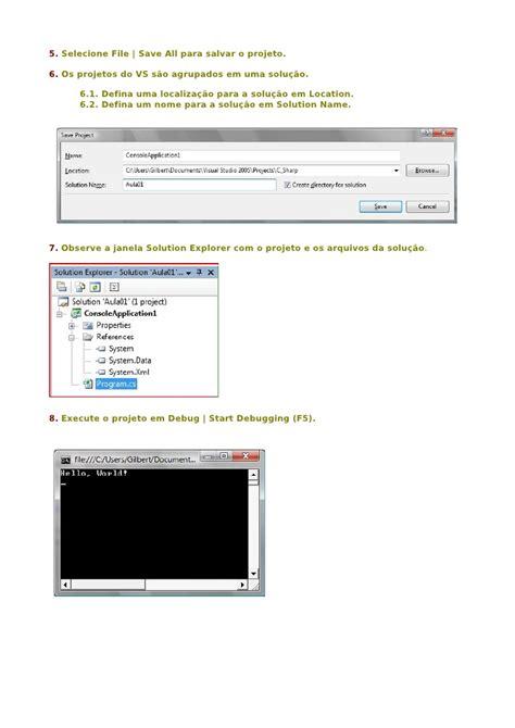 tutorial visual studio net tutorial passo a passo visual studio