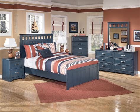 ashley kids bedroom set signature designs by ashley leo blue panel bed set