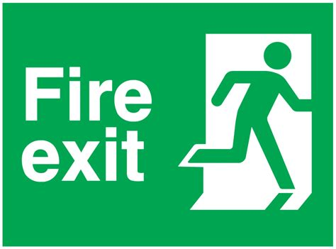 Lu Emergency Exit exit running right sign free cad blocks and